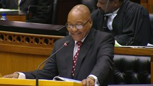 President Jacob Zuma laughed off more allegations against him