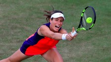 Johanna Konta crashes out of Aegon Classic