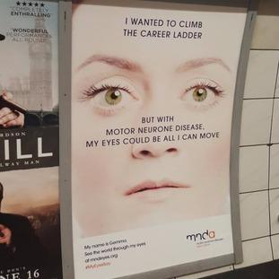 Gemma poster at Bank underground station