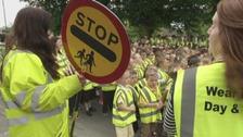 Schoolchildren drive home road safety message
