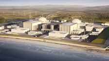 A computer generated image of Hinkley Point C