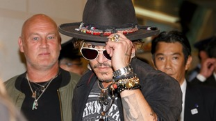 Johnny Depp appeared to joke about assassinating the US president