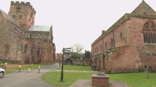 Police search for youths who smashed stones at Carlisle Cathedral