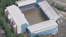 Hillsborough stadium during the 2007 flooding