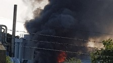 Fire crews tackle blaze at Kent industrial estate