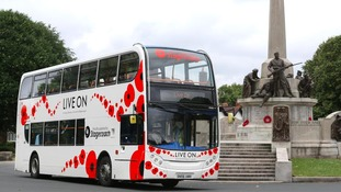 Poppy Bus and free transport for Armed Forces Day