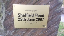Plaque to mark ten years since flooding hit Sheffield