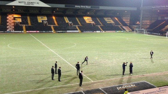 Notts County&#x27;s pitch is frozen tonight 