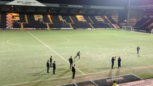 Notts County's pitch is frozen tonight