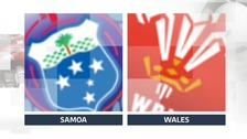 Steff Evans brace sees Wales edge Samoa