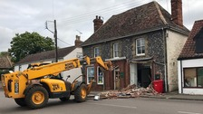 Cash machine stolen in Suffolk JCB ram-raid