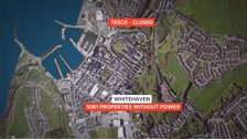 Major power cut in Whitehaven hits over 1,000 properties