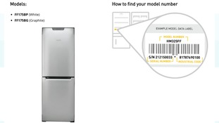 Product notice released from Hotpoint
