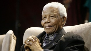 Former South African President Nelson Mandela in 2008