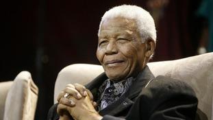 Former South African President Nelson Mandela in 2008