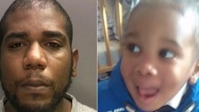 Chevaze Sanchez McGregor and toddler Jeremiah Regis-Ngawah
