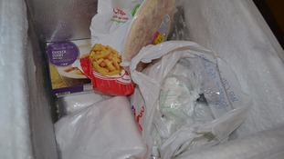 Man hides drugs next to frozen curry and chips