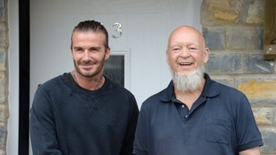David Beckham and Michael Eavis
