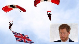 Prince Harry a 'natural' at skydiving reveals Red Devils commander