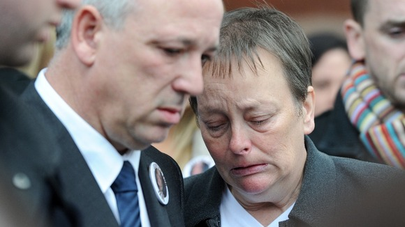 John and Penny Clough outside Preston Crown Court after Vass was sentenced back in 2010.