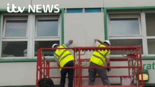 Urgent removal of cladding, found to be fire risk