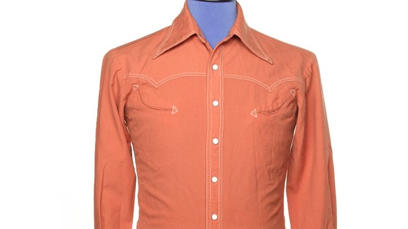 Orange shirt identical to one worn by Harrison in the 1970's