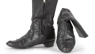 A pair of George's custom made leather 'Beatle' boots