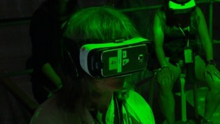 person with VR headset on