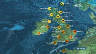 Weather: A cloudy start ahead of sunny spells developing