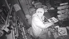 CCTV released of convenience store break-in