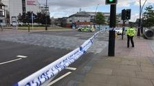 Police cordon in Sheffield