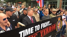 Britain First protesters gather