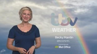 Sunny spells & showers to start the weekend.