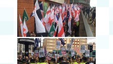 Watch: Hundreds attend Britain First rally and counter