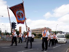 The parade took place in west Belfast on Saturday.