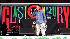 Jeremy Corbyn addresses crowds at Glastonbury