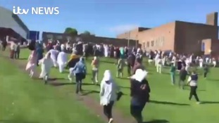The scene in Newcastle as a car crashed into Muslims attending Eid