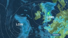 Tuesday - rather wet and quite windy for June