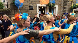 Thousands line the streets of Hebden Bridge for Handmade Parade