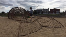 The willow whale is this year's public art installation at the festival