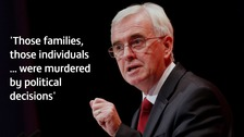 McDonnell tells Glasto crowd Grenfell victims were 'murdered'