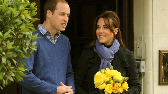 The Duke and Duchess of Cambridge leave the King Edward VII hospital earlier this month