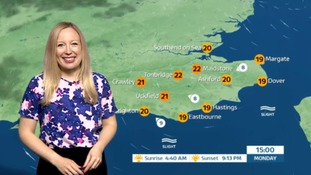 Philippa has Monday's weather for the east