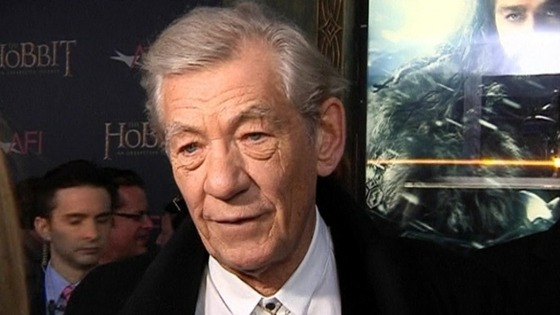 Sir Ian McKellen at the US Hobbit premiere