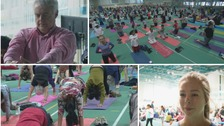 Cardiff celebrates International Yoga Day!