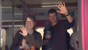 Geoff Marshall & Vicki Pipe wave goodbye to Pilining