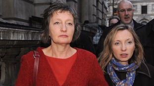 Family of Pat Finucane arriving in central London this morning