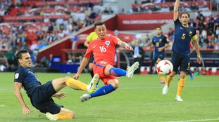 Chile draw 1-1 with Australia to reach Confederations Cup semi-finals