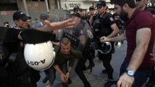 Turkish police 'fire rubber bullets' on Pride marchers