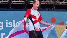 Dan Halksworth claimed two golds for Jersey on the opening day of competition.
